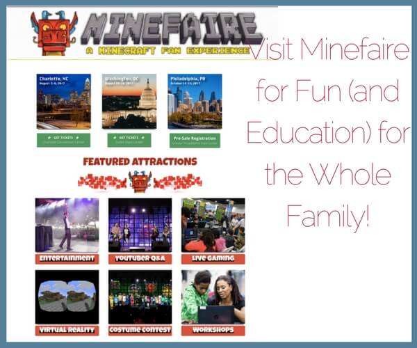 Minefaire: Minecraft event for the family