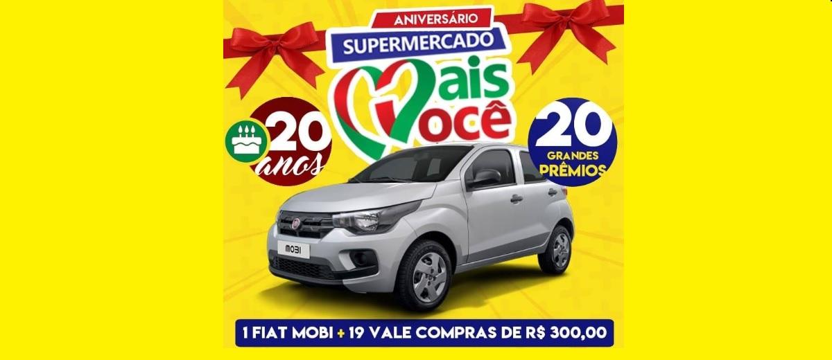 Promoção Supermercado Mais Você Recife 2020 - Carro Zero e Vale-Compras 300 Reais