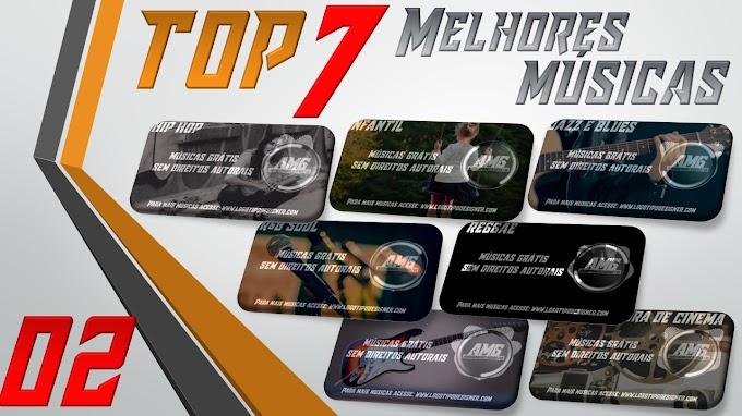 As 7 Melhores Músicas #02 Grátis free use Logo Tipo Designer