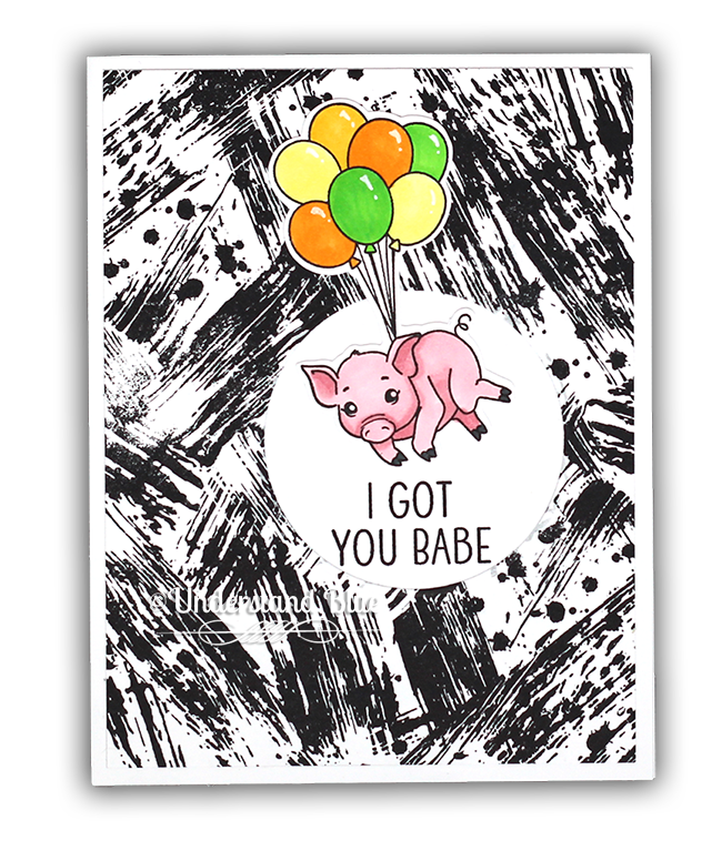 Flying PIg card by Understand Blue