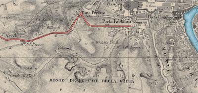 Mappa 1857 Monte del Gallo