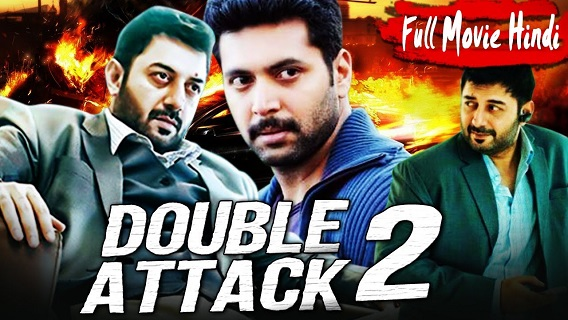 Double Attack 2 (Thani Oruvan) 2017 Hindi Dubbed 720p & 480p HDRip