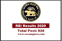 RBI Assistant Result 2020 announced rbi co in for the Prelims exam held for the recruitment of over 900 vacancies in Reserve Bank Check your RBI Assistant Prelims Result on the direct link here Know RBI Assistant scorecard, cut off marks and