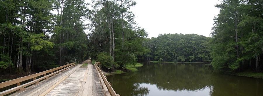 Puente de madera del Tucker's Grade en el Babcock Ranch