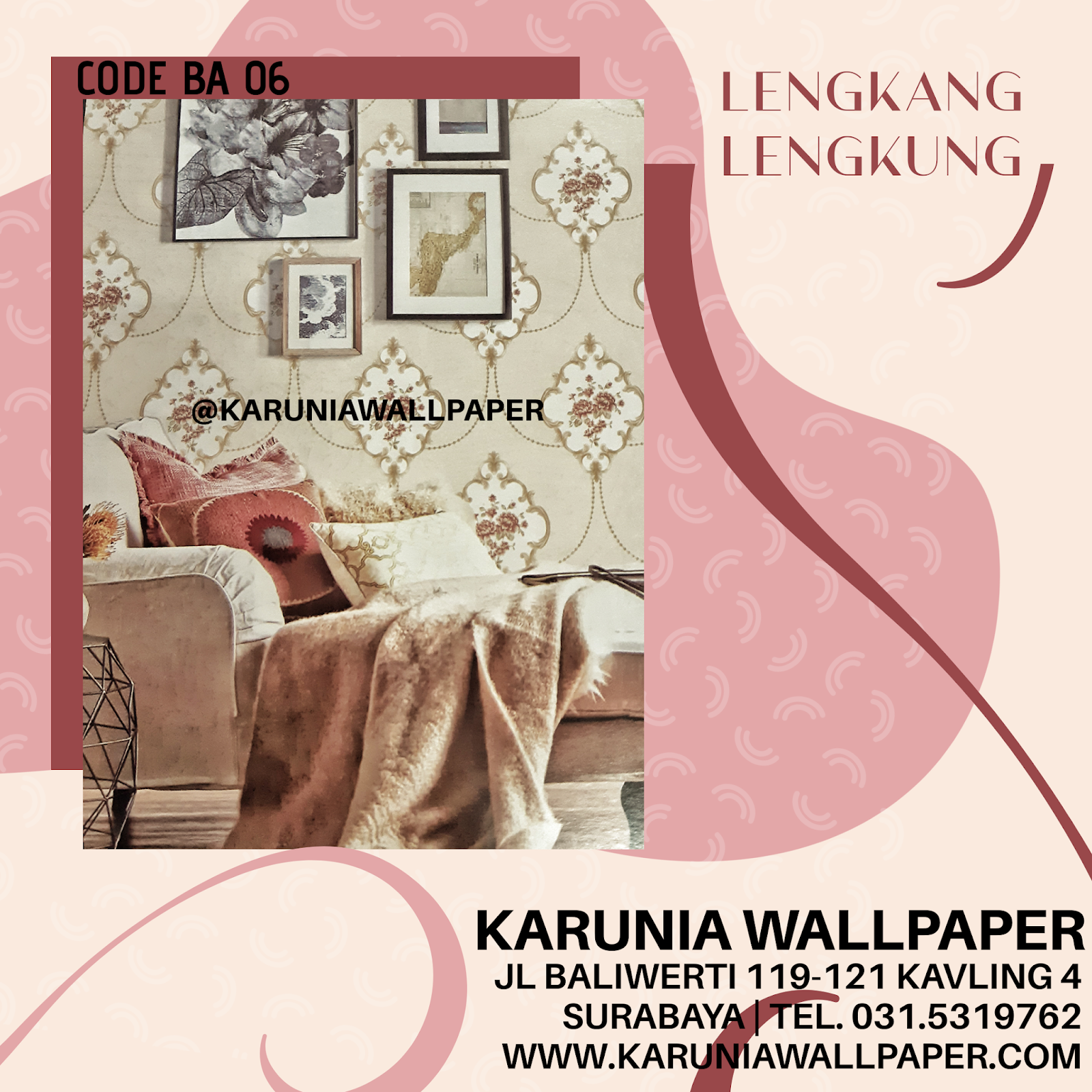 jual wallpaper bunga klasik