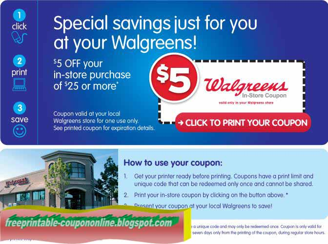 walgreens photo coupons for instore use