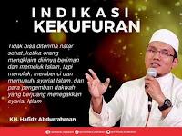 MENOLAK SYARIAT ISLAM INDIKASI KEKUFURAN
