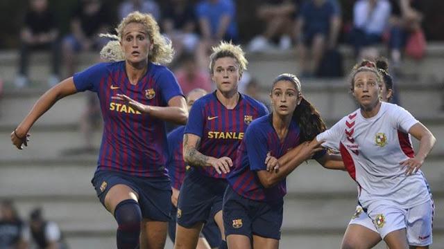 Kazygurt Vs FC Barcelona women UEFA women Champions League