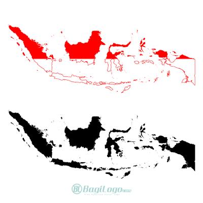 Peta Indonesia Logo Vector