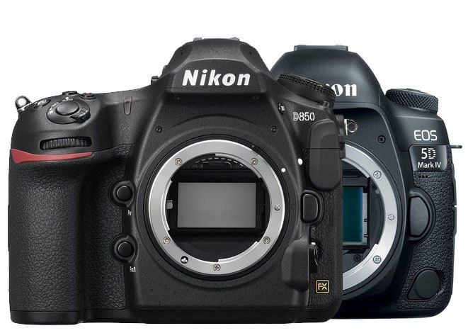 Nikon D850 и Canon EOS 5D Mark IV