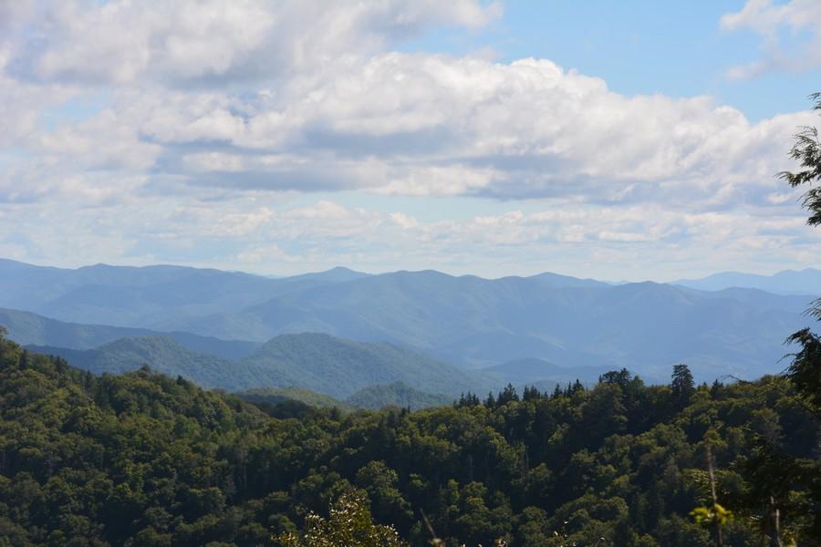 vue sur les Smoky Mountains