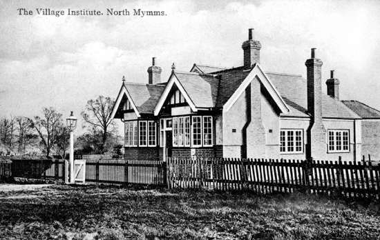Postcard showing the North Mymms Village Institute in the 1900s - Image from G Knott / P Miller