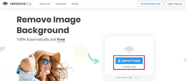 Jika halaman sudah terbuka, Sobat bisa langsung klik Upload Image untuk memilih foto.