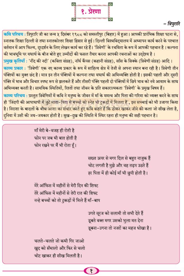 Chapter 1 - प्रेरणा Balbharati solutions for Hindi - Yuvakbharati 11th Standard HSC Maharashtra State Board