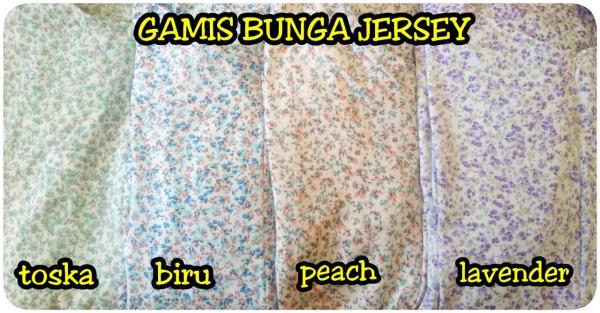 Gamis Bunga Jersey G-067