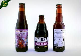 Elige entre estas tres cervezas ( Triporteur Full Moon 12,  Kasteel Barista Chocolate Quad,  De Molen Spanish sQuad) cuál catamos.