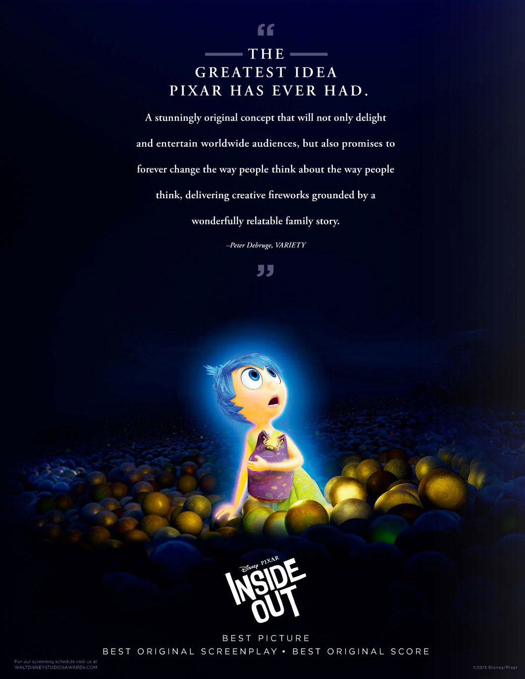 For Your Consideration: Inside Out, The Good Dinosaur and ...  For Your Consid...