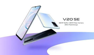 هاتف Vivo V20 SE بثلاث كاميرات مع شحن سريع 33 واط