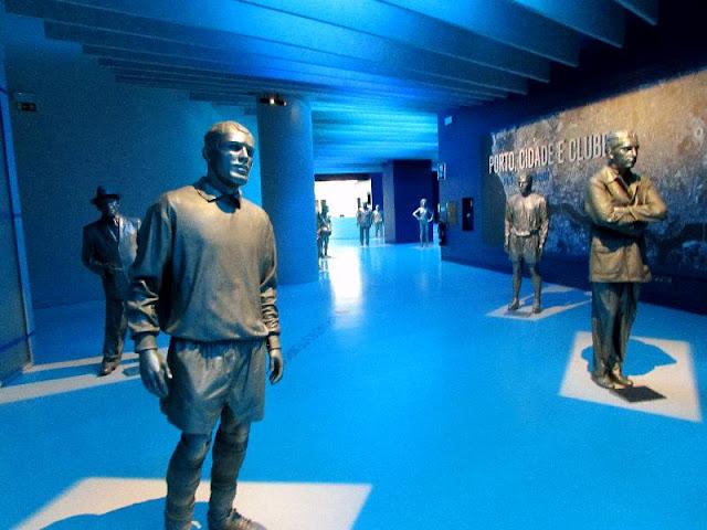Figuras importantes na história do clube no Museu do FC Porto