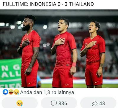 Timnas indonesia kalah dari thailand