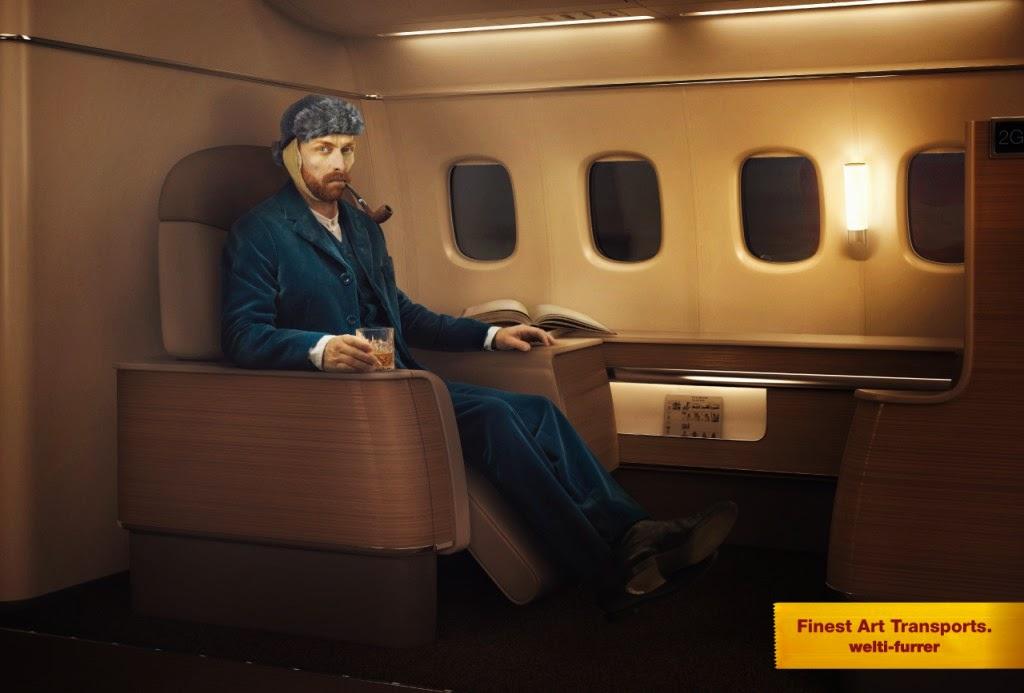 Publicidad con sentido del humor transporte de arte.