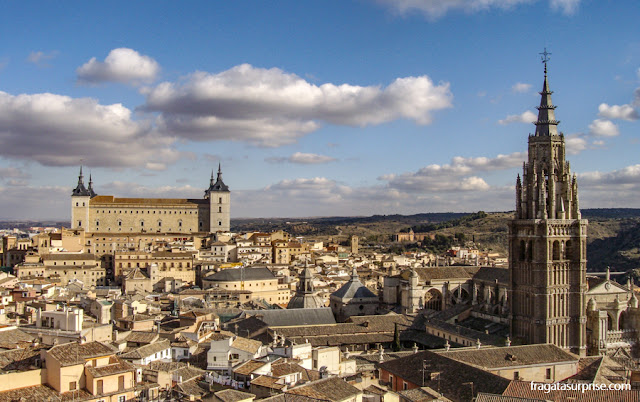 Toledo vista do alto do campanário da Igreja dos Jesuítas