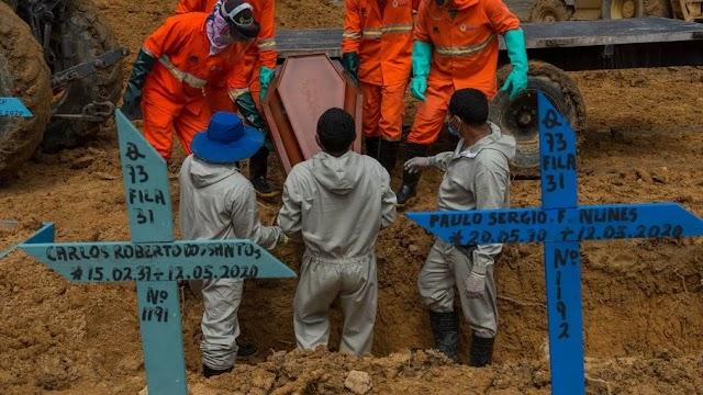 Brasil registra 1.910 mortes por Covid-19 em 24 horas