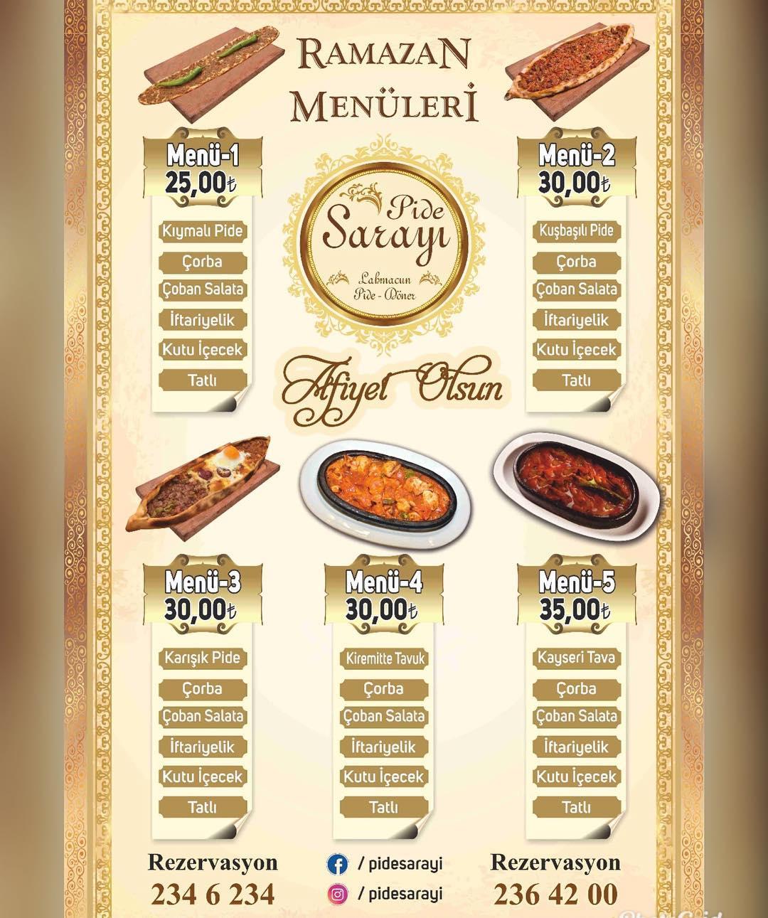 pide sarayı erciyesevler kayseri iftar