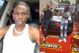 Rema Picks Up 2019 Headies 'Next Rated' SUV prize (PHOTOS)