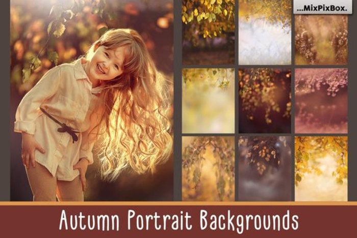 Autumn Portrait Backgrounds Graphic