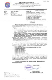 Perihal Tanda Tangan Elektronik Administrasi Kependudukan di Kota Tarakan - Tarakan Info