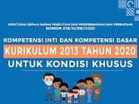 Download KI dan KD Kurikulum 2013 Tahun 2020 untuk Kondisi Khusus