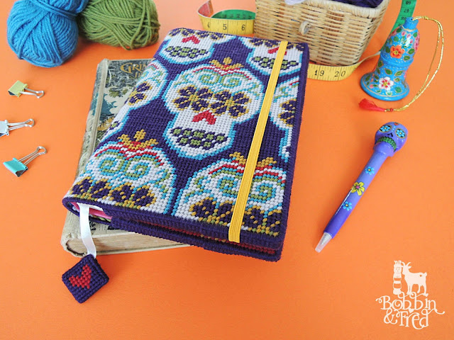 Repeat pattern sugar skulls notebook