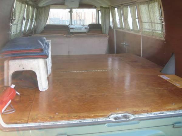 1965 VW Bus custom interior layout