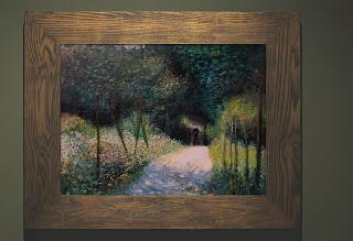 """""""Femme dans un jardin"""" copie d'un Renoir"""