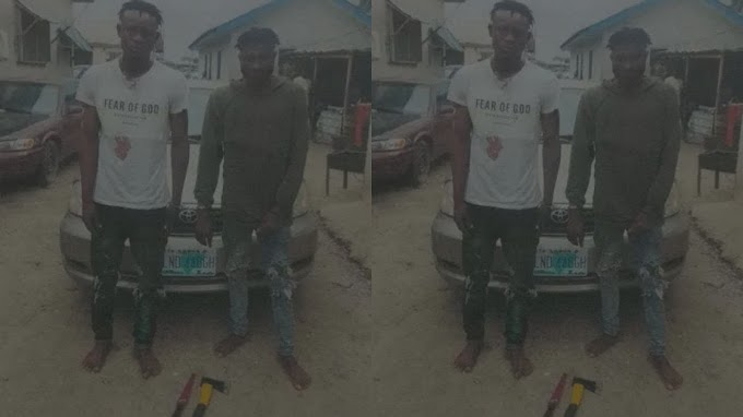 Police arrest two suspected members of robbery gang that specialize in snatching vehicles from Uber drivers in Lagos