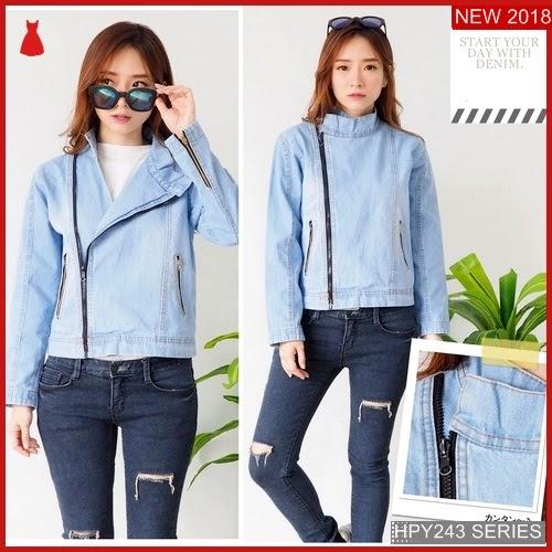 HPY243J162 Jaket Jeans Anak Zipper Murah BMGShop