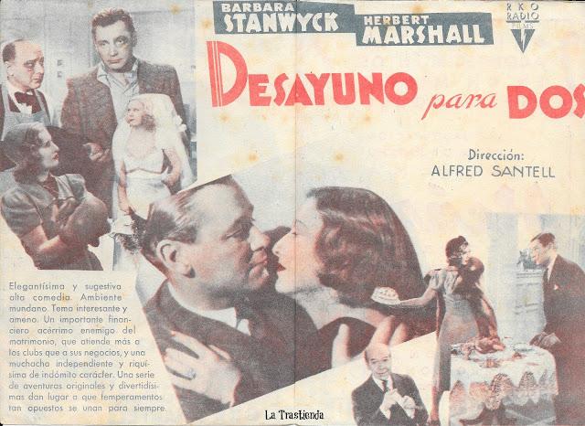 Desayuno para Dos - Programa de Cine - Barbara Stanwyck - Herbert Marshall