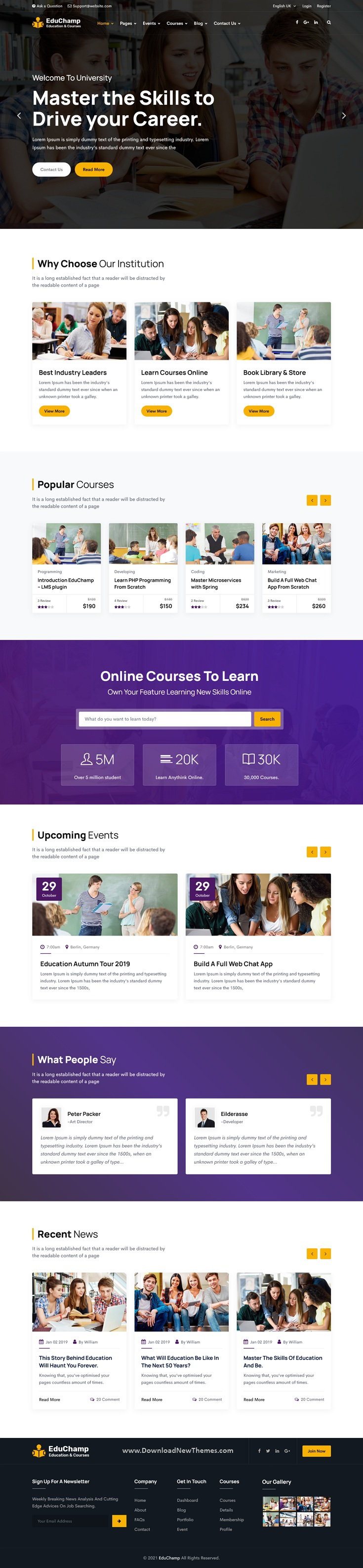 Education React Template