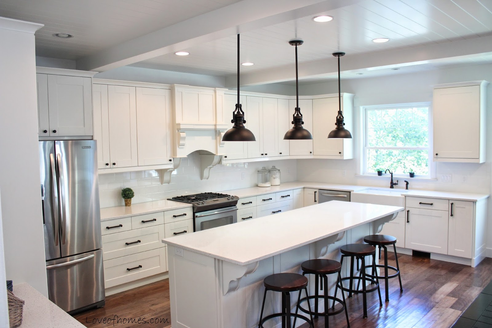 ikea kitchen cupboards rustic lighting ideas love of homes: remodel {reveal}