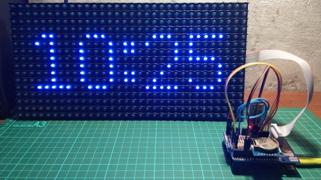 Arduino HC05 dot matrix P10