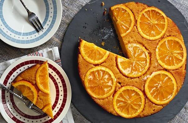 كيك البرتقال المقلوبة