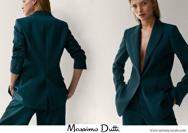 Kate Middleton wore Massimo Dutti wool suit blazer
