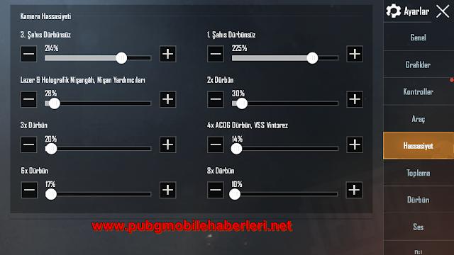 PUBG Mobile En İyi Hassasiyet ve Dürbün Ayarları Ekim 2020!
