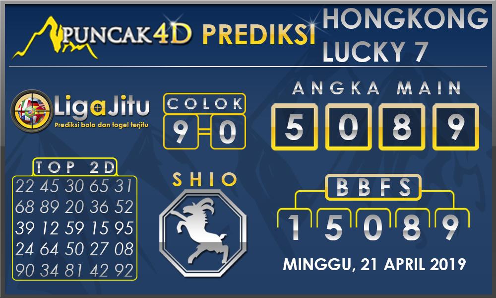 PREDIKSI TOGEL HONGKONG LUCKY7 PUNCAK4D 21 APRIL 2019