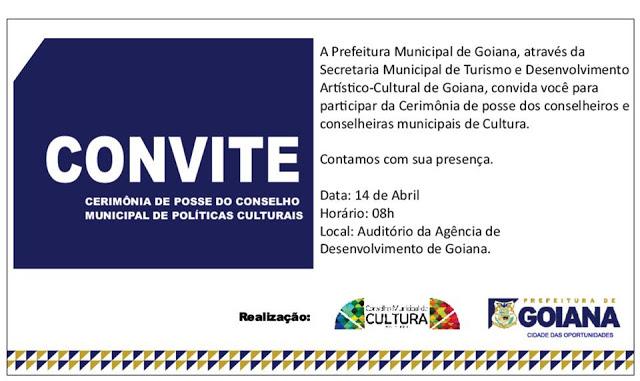 Cerimônia de posse dos conselheiros de cultura acontece nesta quinta (14/04)