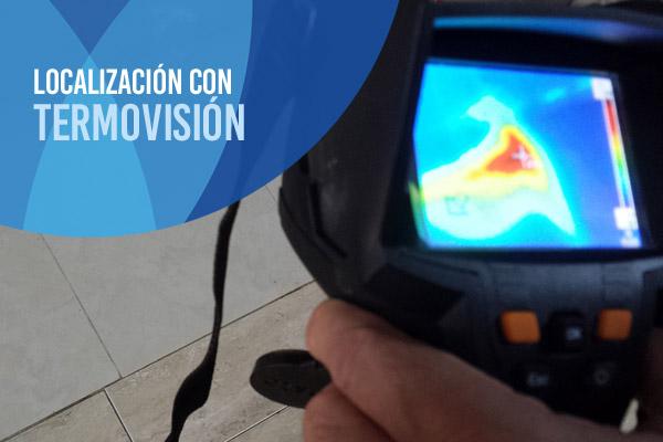 Localización de fugas de agua con cámara termográfica