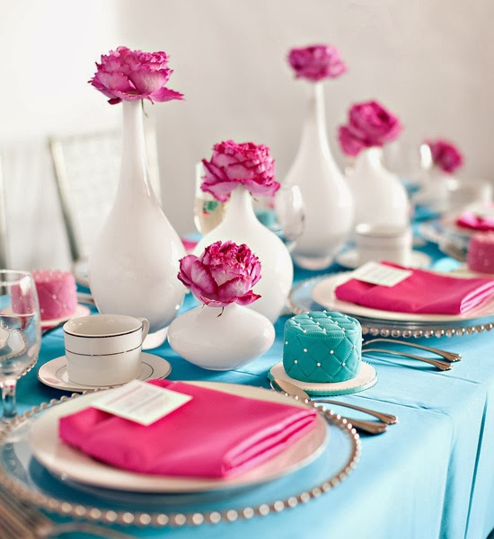 Turquoise Fuchsia Wedding: Lush Fab Glam Blogazine: Party Décor Inspiration: Fabulous