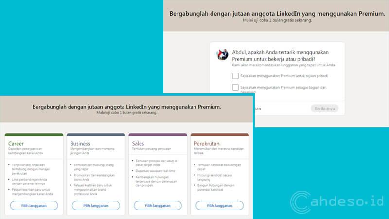 Paket Uji Coba LinkedIn Premium Gratis 1 Bulan