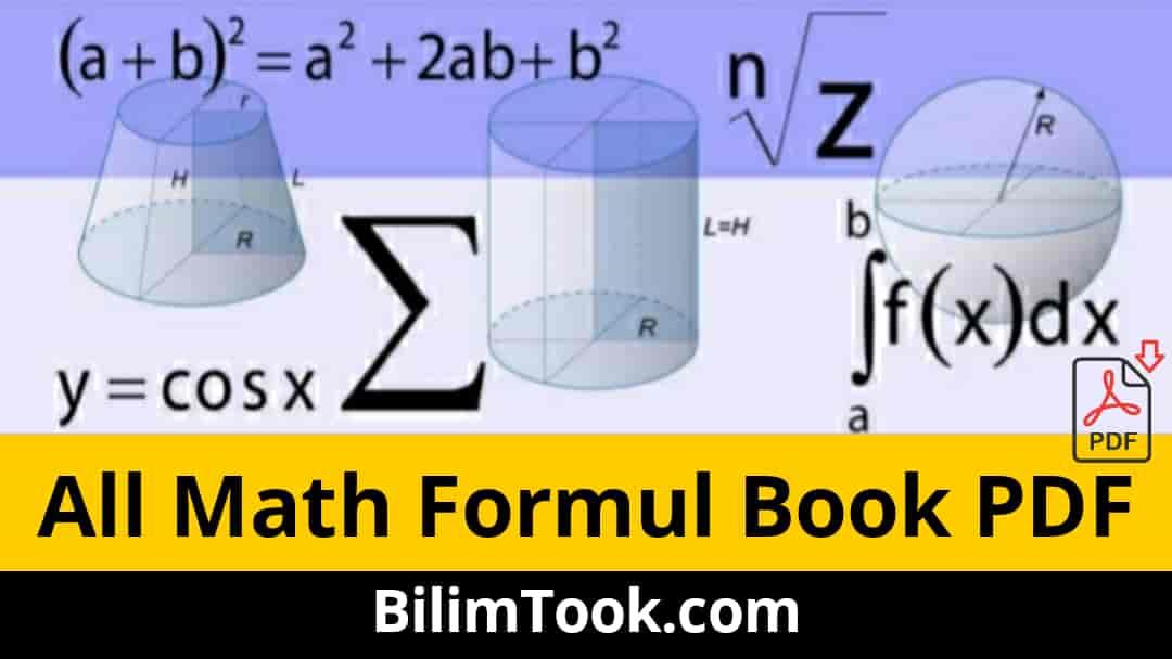 Math Formulas Book PDF [Basic to Advanced Math Formulas]